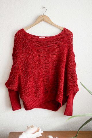 Jersey rojo de entretiempo