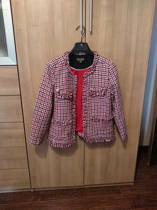 chaqueta pata de gallo tweed
