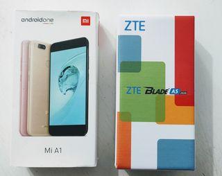 XIAOMI MI A1 y ZTE Blade A5 2020