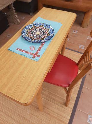 Mesa plegable y silla