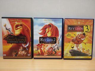 """Pack 3 DVDs """"REY LEÓN"""""""