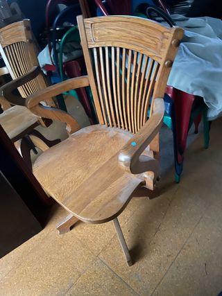 Silla madera escritorio