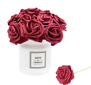 ** Lote de 24 Grandes Flores de Papel Decorativas