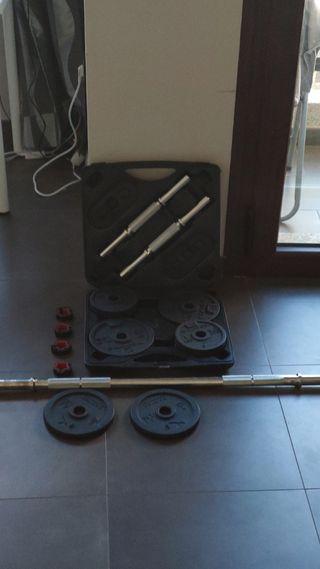 GANGA Kit de pesas / mancuernas Decathlon