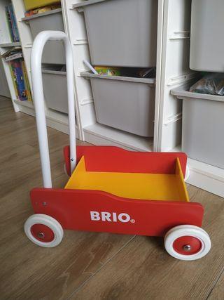 Carrito andador bebés/niños de madera, Brio