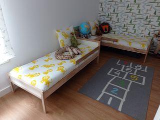 2 camas infantiles sniglar Ikea +colchón ...
