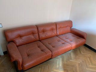 Sofá rojo 3 plazas