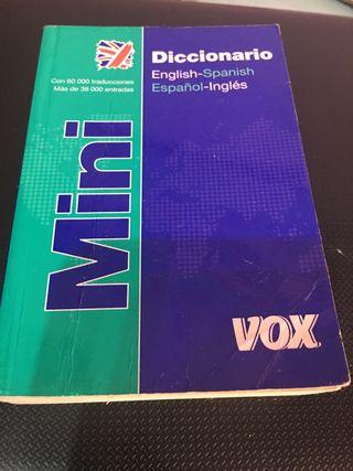 Mini diccionario español y ingles