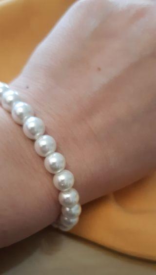 Pulsera elástica de perlas