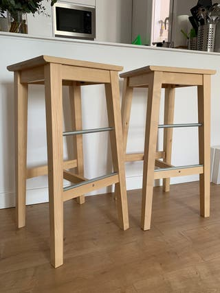 Taburetes madera Ikea