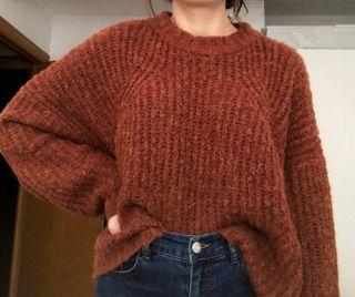 Jersey marrón de Bershka