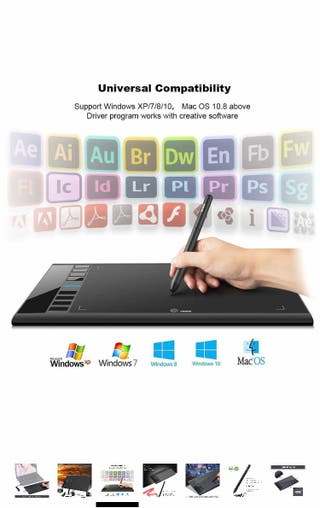 Graphics Tablet M708 Drawing Pad Tablet 8