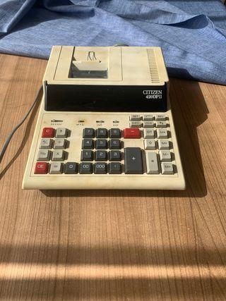 Calculadora impresora de tíquet. Citizen 420DPII