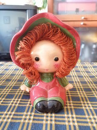 Hucha muñeca ceramica