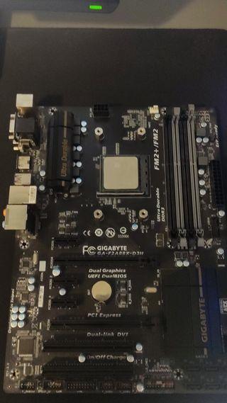 AMD a10 7700 + placa + disipador + ram