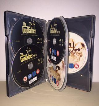 Caja 5 dvd El Padrino