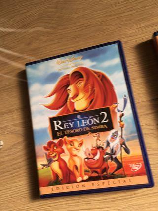 El rey león 2 y 3.