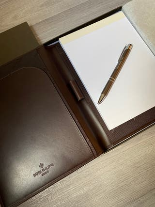 Authentic Patek philippe leather notepad