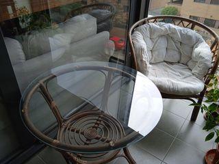 Mesa y sillón de terraza/jardín