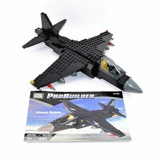Mega Blocks Black Eagle. Maqueta avión. 230 piezas