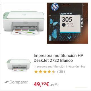 impresora y cartucho tinta negra