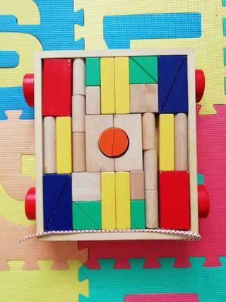 Juguete piezas madera 1-3 años