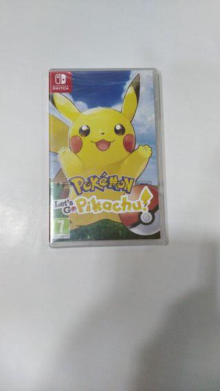 Pokemon Let's go Pikachu Nintendo Switch nuevo pre