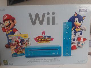 Wii Azul Sonic Mario