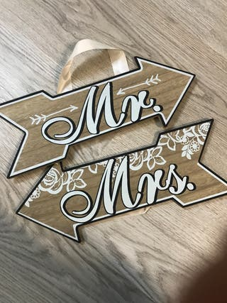 Carteles recién casados