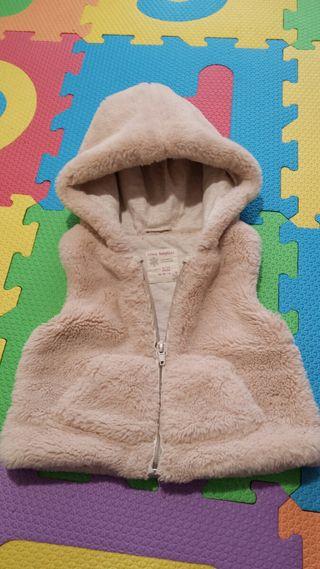 chaleco con capucha bebé 6-9m