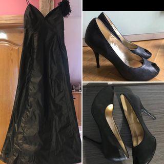 Vestido fiesta Zara + Zapatos