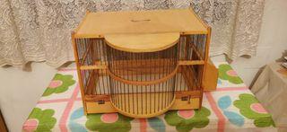 Jaula madera artesanal pájaros nueva a estrenar