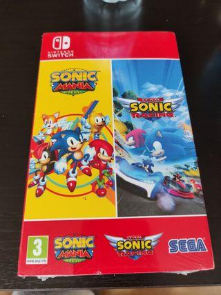 juego switch sonic mania + Team Sonic NUEVO