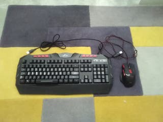 Wired Rgb Back-lit Gaming Keyboard And Mouse
