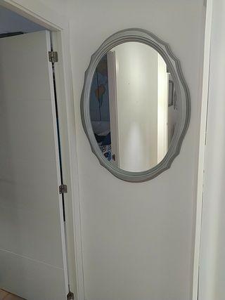 Espejo ovalado madera