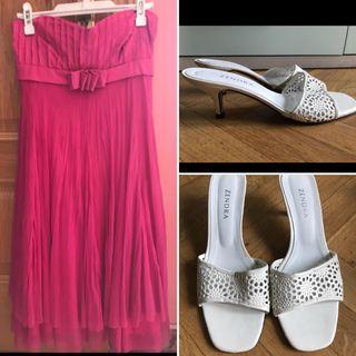 Vestido fiesta + sandalias Zendra