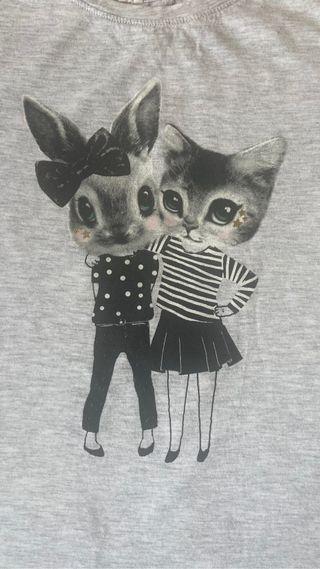 Camiseta estampada niña