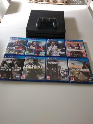 PS4 Pro, más varios juegos