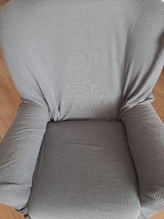 funda de sofá de 1 plaza gris