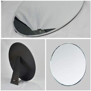 Espejo ovalado sin marco decoración o maquillaje