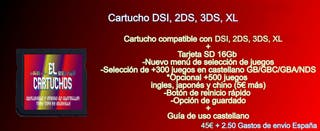 Cartucho 2ds, 3ds, XL...