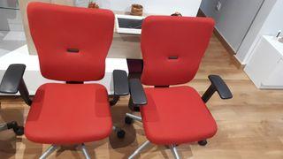 silla oficina steelcase rojas
