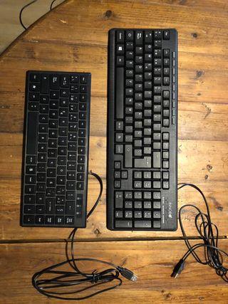Teclado normal + teclado mini