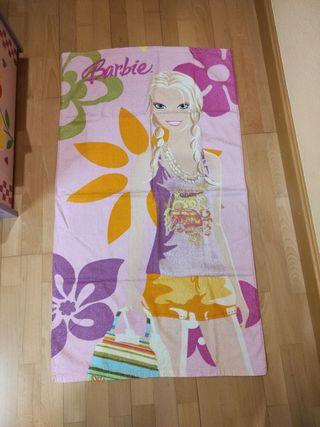 toalla de barbie