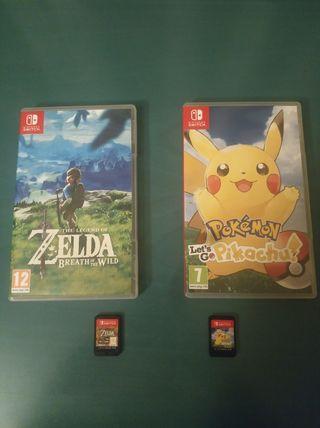 Zelda y Pokémon Let's Go Pikachu Nintendo Switch