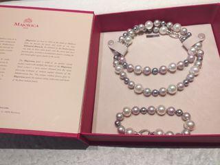 collar y pulsera de perla majorica