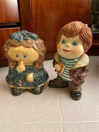 Muñecos ceramica. 10 euros cada uno