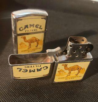 Mechero tipo zippo de publicidad tabaco Camel
