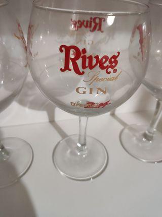 lote 4 Copas Gintonic serigrafía Rives Brasil2014