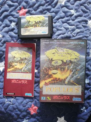Mega Drive Populous Completo JAP